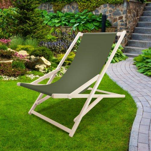 Leżak drewniany bujany XXL Prestige 794 434-18-40 khaki