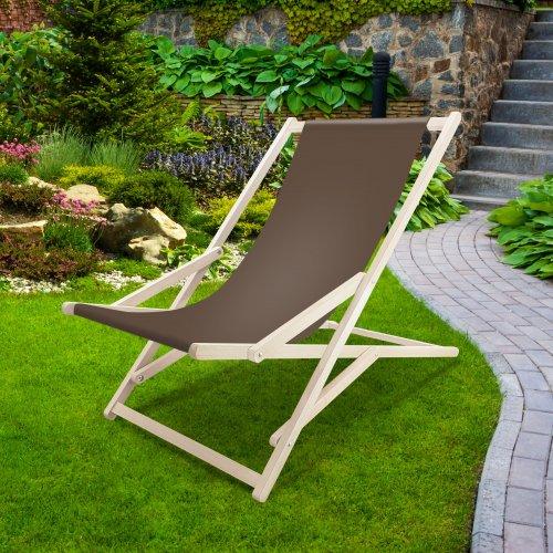 Leżak drewniany bujany XXL Prestige 794 434-22-28 brązowy jasny