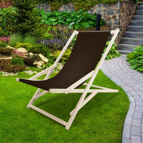 Leżak drewniany bujany XXL Prestige 794 434-27-29 brązowy ciemny