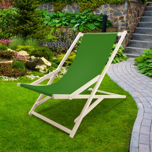 Leżak drewniany bujany XXL Prestige 794 434-31-25 zieleń trawiasta