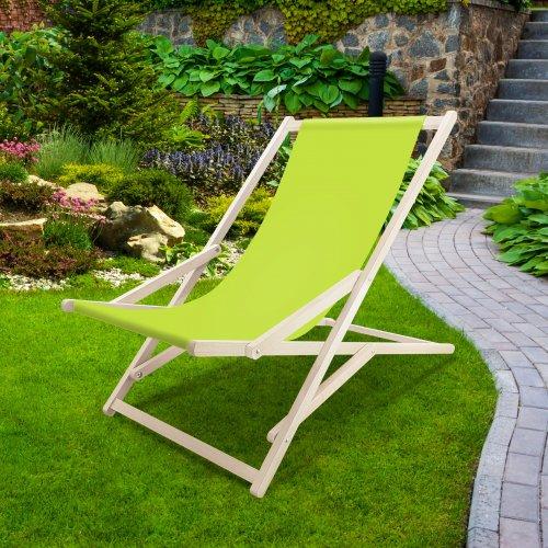 Leżak drewniany bujany XXL Prestige 794 434-35-96 limonkowy jasny
