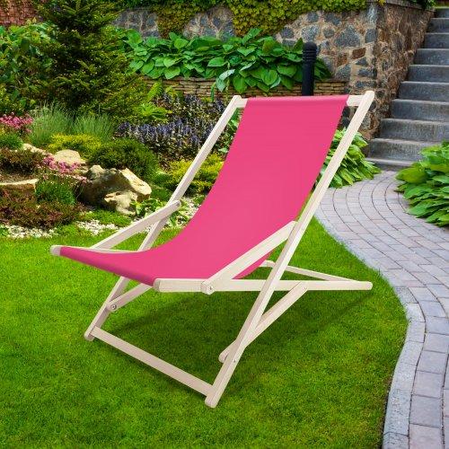 Leżak drewniany bujany XXL Prestige 794 434-34-11 różowy mocny