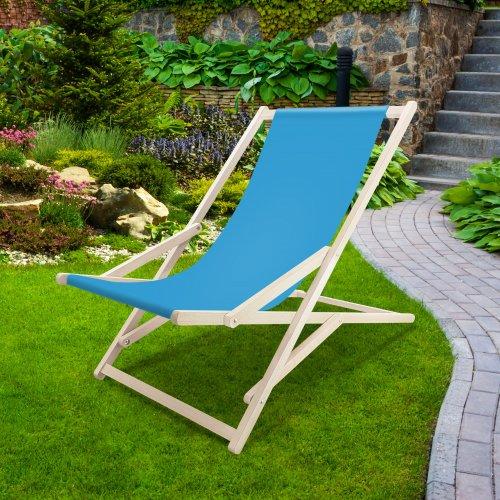 Leżak drewniany bujany XXL Prestige 794 434-38-101 lazurowy jasny