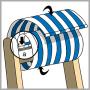 Leżak drewniany bujany XXL Prestige 794 V434-107 błogie lenistwo
