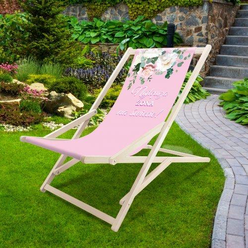 Leżak drewniany bujany XXL Prestige 794 V434-108 najlepsza żona