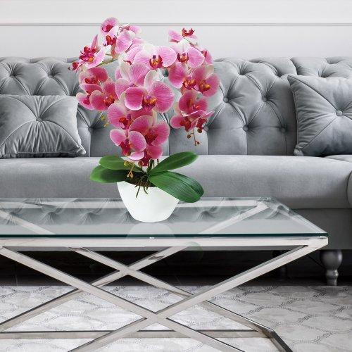 Sztuczny Storczyk Orchidea 3 pędowy 70cm 861-02 Różowy