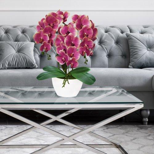 Sztuczny Storczyk Orchidea 3 pędowy 70cm 861-05 Różowy ciemny