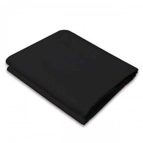 Tradycyjne prześcieradło bawełniane LUKSUSOWE 828-34 czarne