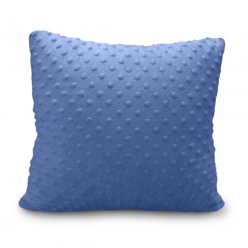 Poszewka dekoracyjna MINKY 350g 40x40 795-13-90 ciemny niebieski