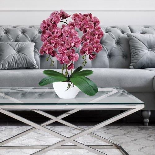 Sztuczny Storczyk Orchidea 3 pędowy 70cm 861-04 Różowy Nakrapiany