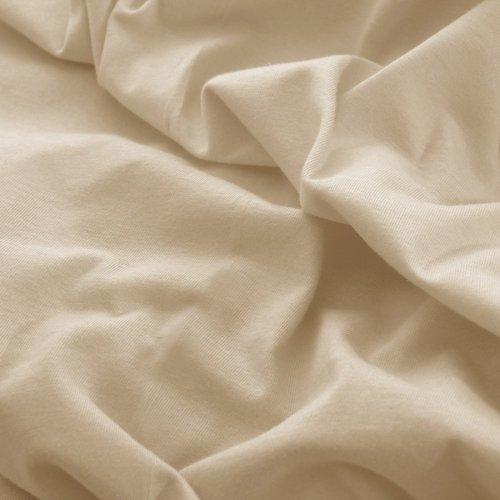 Prześcieradło do łóżeczka z gumką JERSEY HOME 195-03 beżowy