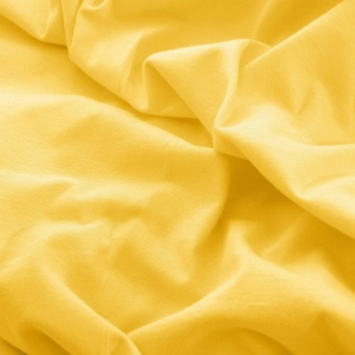 Prześcieradło do łóżeczka z gumką JERSEY HOME 195-05 żółty