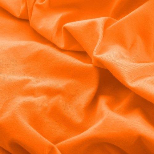 Prześcieradło do łóżeczka z gumką JERSEY HOME 195-06 pomarańczowy
