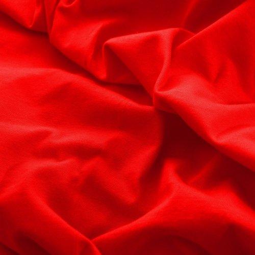 Prześcieradło do łóżeczka z gumką JERSEY HOME 195-12 czerwony