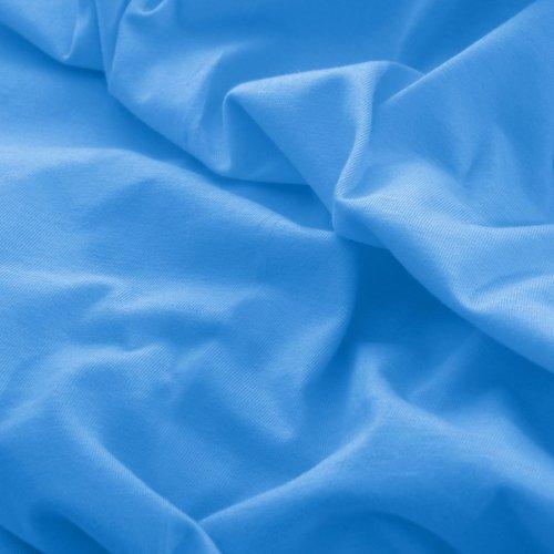 Prześcieradło do łóżeczka z gumką JERSEY HOME 195-14 błękitny