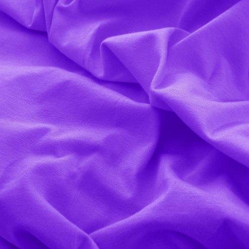 Prześcieradło do łóżeczka z gumką JERSEY HOME 195-18 fioletowy
