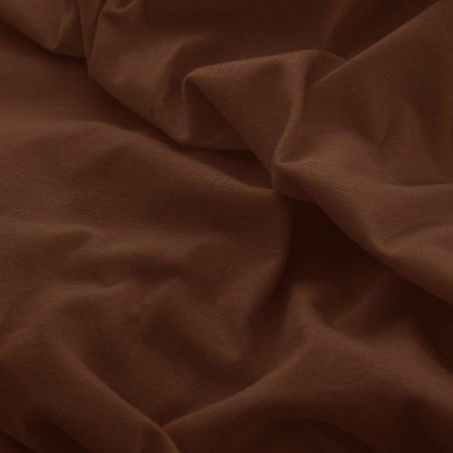 Prześcieradło do łóżeczka z gumką JERSEY HOME 195-29 brązowy