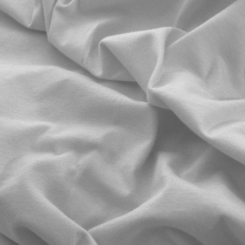 Prześcieradło do łóżeczka z gumką JERSEY HOME 195-31 szary jasny