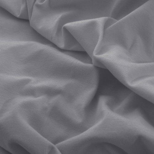 Prześcieradło do łóżeczka z gumką JERSEY HOME 195-33 szary ciemny