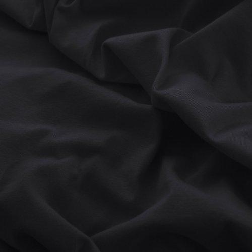 Prześcieradło do łóżeczka z gumką JERSEY HOME 195-34 czarny