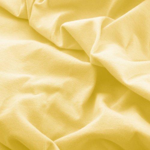 Prześcieradło do łóżeczka z gumką JERSEY HOME 195-78 waniliowy