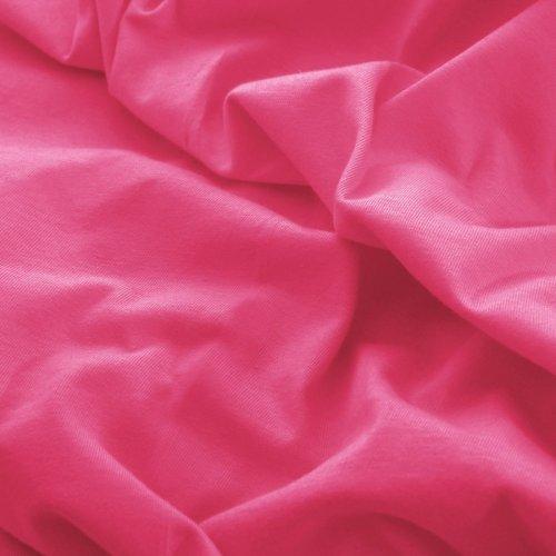 Prześcieradło do łóżeczka z gumką JERSEY HOME 195-87 różowy