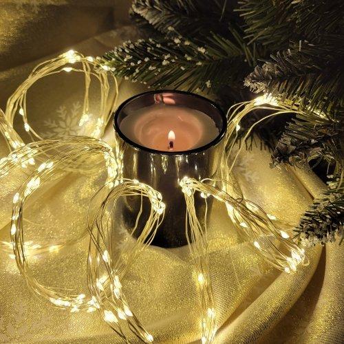 Lampki dekoracyjne 200 LED Włosy Anioła 868-01 ciepły biały