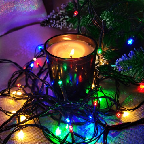 Lampki choinkowe z flashem 500 LED 870-03 multicolor