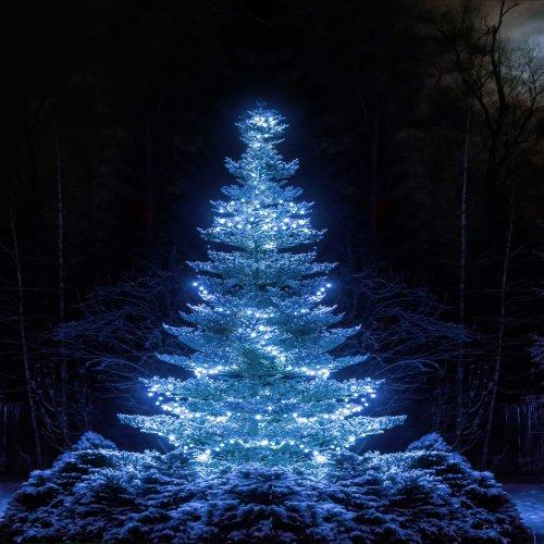 Lampki choinkowe z flashem 1000 LED 871-02 zimny biały