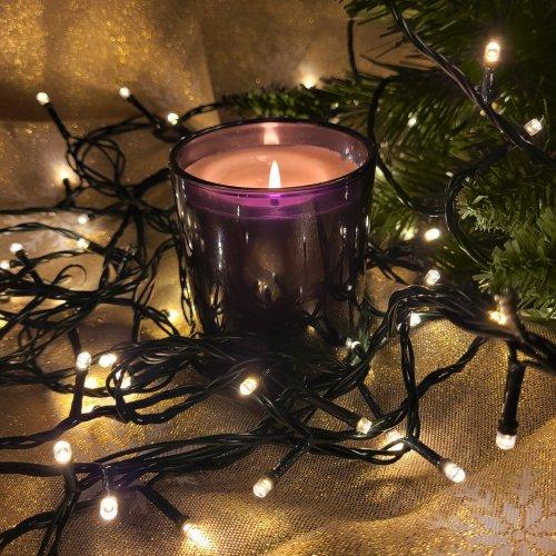 Lampki choinkowe z flashem 500 LED 870-01 ciepły biały