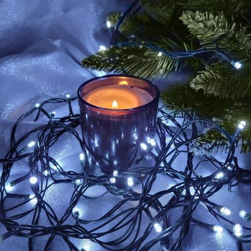 Lampki choinkowe 8 trybów świecenia 1000 LED 869-02 zimny biały