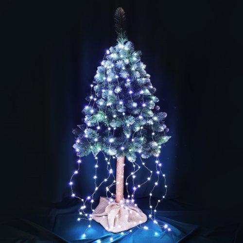 Lampki dekoracyjne 200 LED Włosy Anioła 868-02 zimny biały