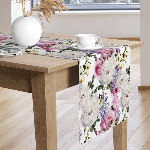 Bieżnik na stół kolorowy D404-118 Kwiaty