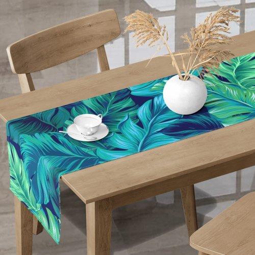 Bieżnik na stół kolorowy D404-219-01 Egzotyczne liście