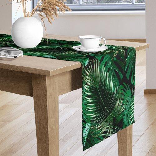 Bieżnik na stół kolorowy D404-256-01 Liście palmowe