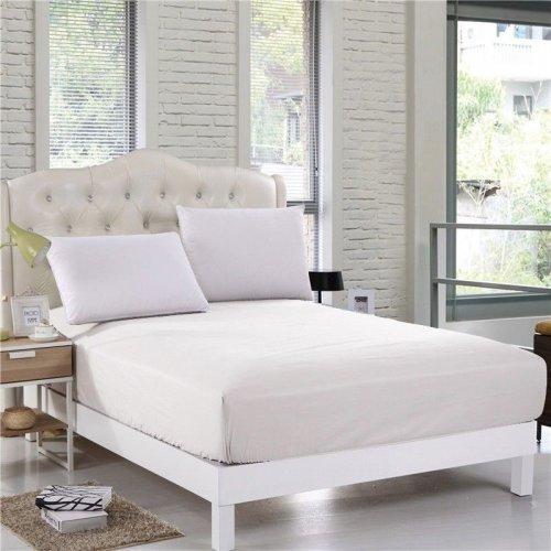 Prześcieradło tradycyjne satyna bawełna 160x230 białe