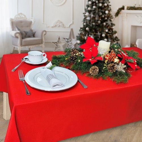 Obrus na stół plamoodporny PREMIUM U414-12 czerwony