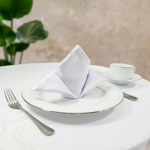 Serwetka bankietowa COMFORT WHITE biała
