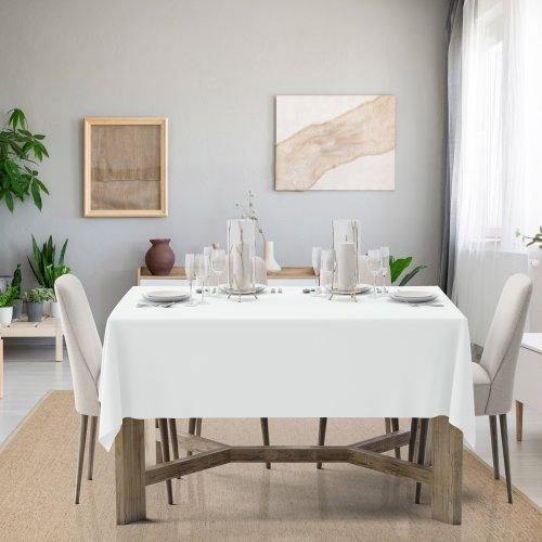 Obrus na stół Classic U404-01 biały