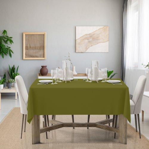 Obrus na stół Classic U404-22 oliwka ciemna