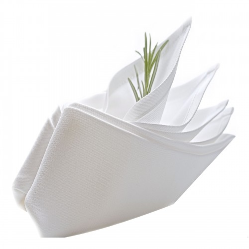 Serwetka bankietowa COMFORT WHITE 418-01 biała