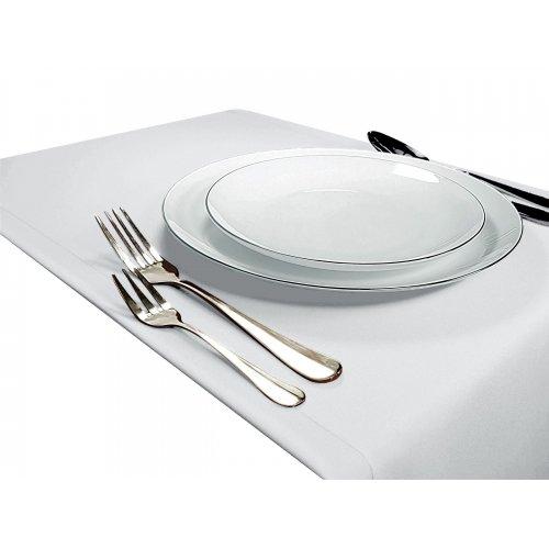 Bieżnik na stół GŁADKI STANDARD 404-01 biały
