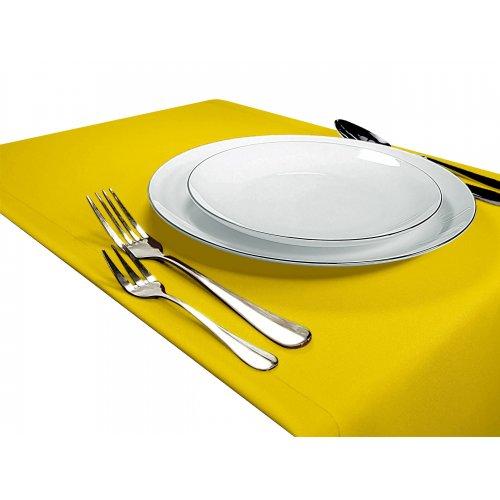 Bieżnik na stół GŁADKI STANDARD 404-05 żółty