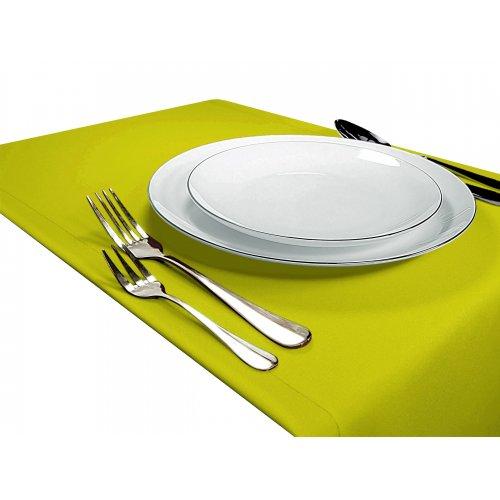 Bieżnik na stół GŁADKI STANDARD 404-21 limonka