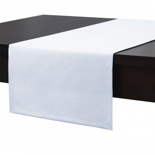 Bieżnik na stół plamoodporny PREMIUM 414-01 biały
