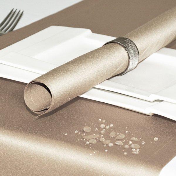 Bieżnik na stół plamoodporny ELEGANCE 400-55 szampański jasny