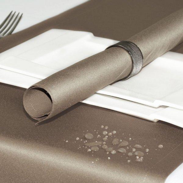 Bieżnik na stół plamoodporny ELEGANCE 400-35 szampański ciemny