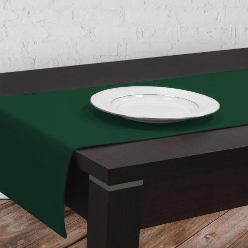 Bieżnik na stół plamoodporny GOLD 401-26 zieleń butelkowa