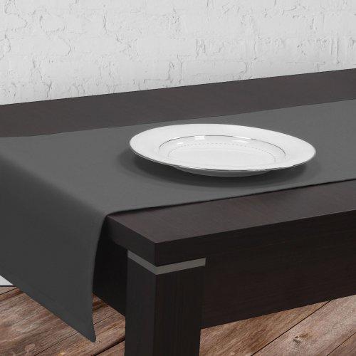 Bieżnik na stół plamoodporny GOLD 401-33 szary ciemny
