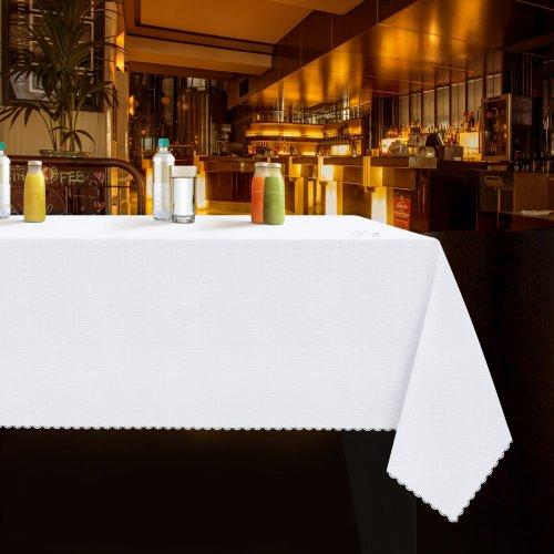 Obrus plamoodporny linen WEDDING & GASTRO PUB biały
